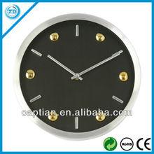 25cm aliminum wall clock sweep move