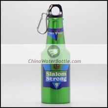 400ml Aluminum Beer Bottle with Carabiner