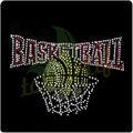 Color brillante baloncesto mom de diamantes deimitación revisión de transferencia deportes t- shirt de hierro en adorno