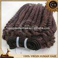 Qingdao caliente de la venta del precio de fábrica del pelo humano jerry curl weave peinados