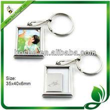 mini photo frame key chain metal