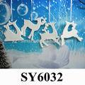 cerámica de navidad renos colgando