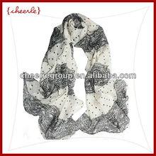 2013 fashion new design pretty elegant ladies silk scarf