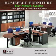 simple design L shape office furniture executive table office desk in melamine