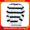 Custom fashion fitness v-neck striped spandex polyester long sleeve no name brand t-shirts