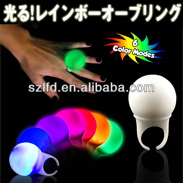 flashing finger ring,led logo light ring