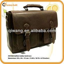 GW1062 baffalo leather briefcases shoulder bags for men