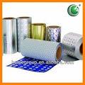 blister de aluminio papel de aluminio para medcine