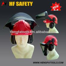 chainsaw brushcutter safety helmet with mesh visor