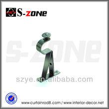 BS02 Single decorative metal curtain rod holder window bar support