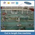 t44k şifreli Dilme uzunluğuna kesilmiş hattı yüksek kaliteli metal bobin uçan makası Otomatik kesilmiş uzunluğu makine