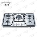pulso de ignição de gás do fogão cooktop com painel em aço inoxidável