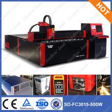 3000*1500mm metal corte a laser máquina usef para açoinoxidável, aço de carbono, etc sd-fc 3015 500w