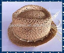 Big discount!!Fashion Raffia straw Custom Sun Fedora hat for summer season