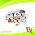 8 piezas de acero inoxidable conjunto cocinar/ollas de cocina conjuntos