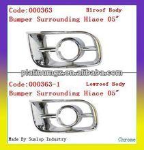 Toyota hiace body parts #000363 Bumper Surrounding Chrome for spot light spot lamp