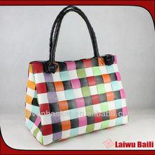 2013 handmade foldable woven bag