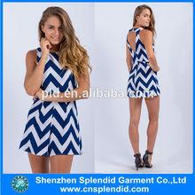 nuevo modelo de niña de vestido casual vestido de hawaiano para el vestido de mujer de moda 2014