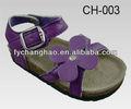 big purple folwer crianças sandálias de importação