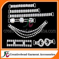 Wholesale crystal rhinestone connectors for bikinis