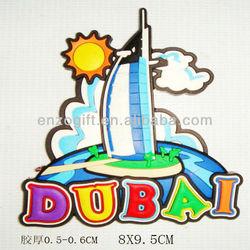 Dubai Souvenir PVC Fridge Magnets, country travel Souvenir magnet
