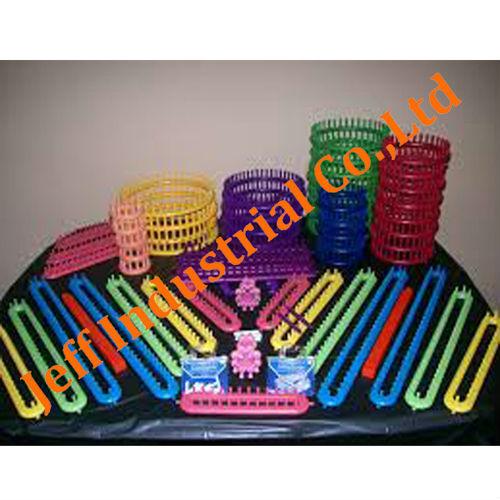 varie dimensioni fashion design di colore diverso telaio in plastica per maglieria fabbrica diretta forniture di borsa in pvc di imballaggio