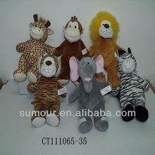 Various Savannah Animals Plush Animals