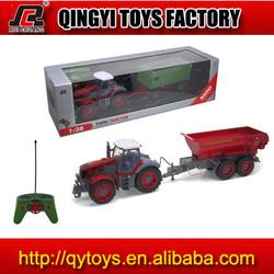 1:28 plastic r c tractor truck