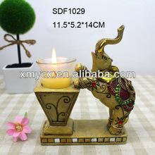 resina elefante figura supporto di candela per arredamento ufficio