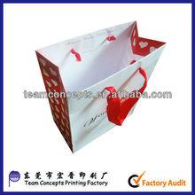 2013 custom printed advertising paper gift bag