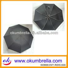 Wholesale Curve Handle Black Folding Umbrella For Promotional