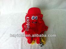 customized mascot plush toy backpack