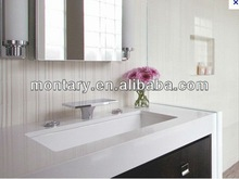 pure white polished artificial bathroom vanity 2013