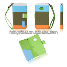 Wholesale wallet leather case cover for HTC m7
