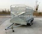 Cattle trailer/Cattle crate trailer/Stock crate tandem trailers