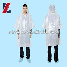 Home Garden outdoor use PE rain poncho coat disposable rain poncho coat