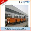 High rise scissor lift/electro-hydraulic scissor lift