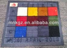 luxury hotel nylon raw rubber backing logo door mat