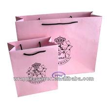Cotton handle paper shopping bag wholesale
