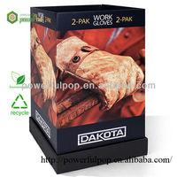 Hot Sale Cardboard POP Corrugated Floor Display Stand for Work Gloves