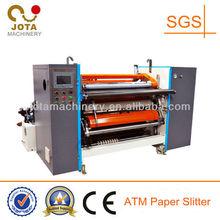 Hydraulic Loading No Overlap ATM Paper Rewinders Machine, Fax Paper Slitting Rewinder Machinery, Small Roll Slitter Rewinder