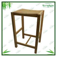 Eco-friendly wooden bamboo 4-leg stool