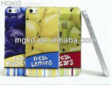 "New 3D fruit design back case for iphone 5"""