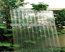 Transparent frp toiture feuilles pour effet de serre