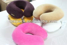 Assorted Colour Travel Neck Pillow With Memory Foam