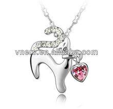 corallo nero necklacefashion cristallo diamon reale collana di perle