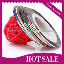 magnetic & Various Color nail art stripe tape