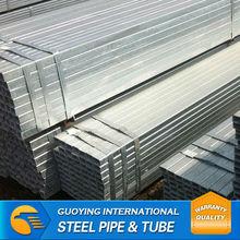 10*20-50*100mm rectangular hdg steel pipe white 1055 zinc carbon steel