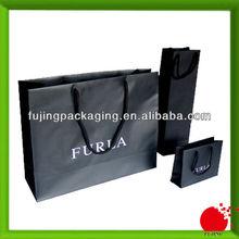 Black paper shopping bag for boutique shop