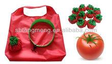 Tomato Shape Folding Shopping Pouch Bag